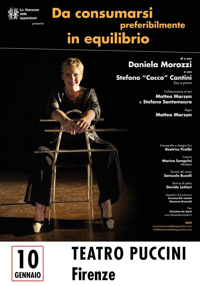 Locandina Da consumarsi preferibilmente in equilibrio - Daniela Morozzi - Teatro Puccini, Firenze