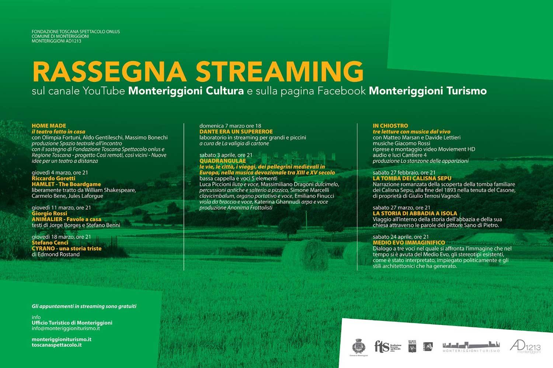 Rassegna in streaming Monteriggioni Cultura